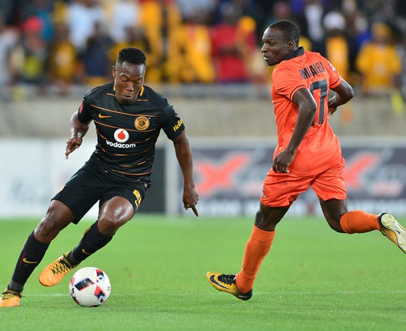 Philani Zulu of Kaizer Chiefs challenged by Rodney Ramagalela of Polokwane City during the Absa Premiership 2017/18 football match between Polokwane City and Kaizer Chiefs at Peter Mokaba Stadium, Polokwane on 31 October 2017 ©Samuel Shivambu/BackpagePix