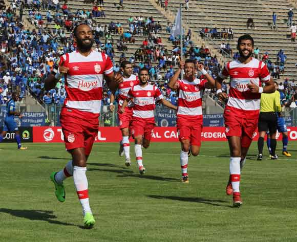 Saber Khalifa of Club Africain celebrates goal during the 2017 CAF Confederations Cup semifinal football match between Supersport United and Club African at Lucas Moripe Stadium in Pretoria, South Africa on 01October 2017 @Gavin Barker/BackpagePix