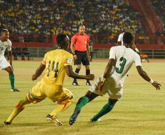 Adama TRAORE of Mali and Ghislain KONAN of Ivory Coast during the World Cup Qualifier match between Mali and Ivory Coast on the 06 October 2017 at National Stadium,Bamako©BackpagePix