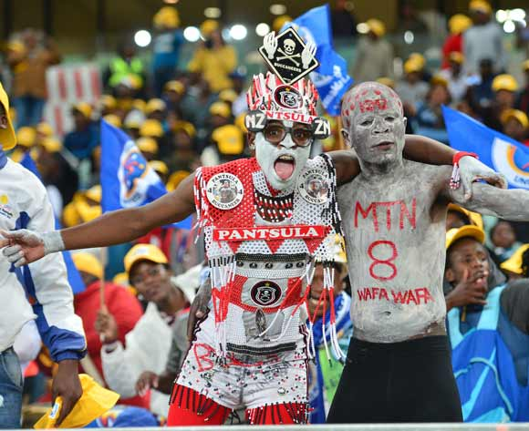 Fans during the 2017 MTN8 football match between Cape Town City and Supersport United at Moses Mabhida Stadium, Durban on 14 October 2017 ©Samuel Shivambu/BackpagePix