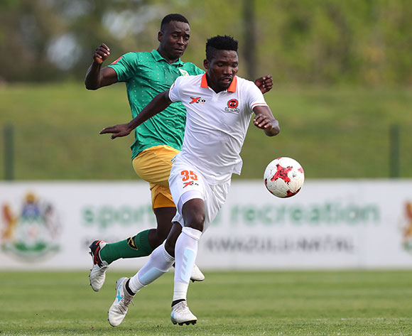 Rendani Ndou of Polokwane City during the 2017/18 Absa Premiership football match between Golden Arrows and Polokwane City at Princess Magogo Stadium, Durban on 21 October 2017 ©Gavin Barker/BackpagePix