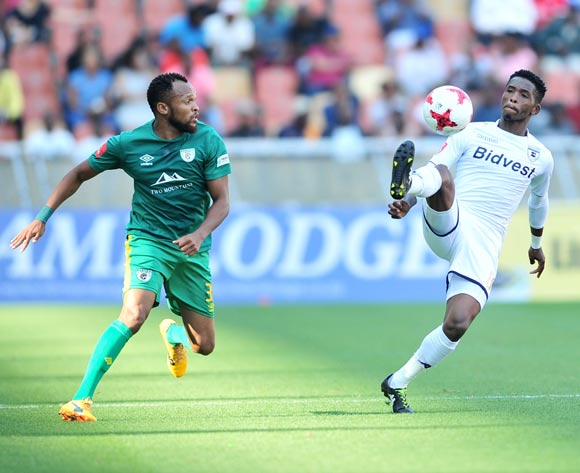 Thabang Monare of Bidvest Wits and Punch Masenamela of Baroka FC during the Absa Premiership 2017/18 football match between Baroka and Bidvest Wits at Peter Mokaba Stadium, Polokwane on 22 October 2017 ©Samuel Shivambu/BackpagePix