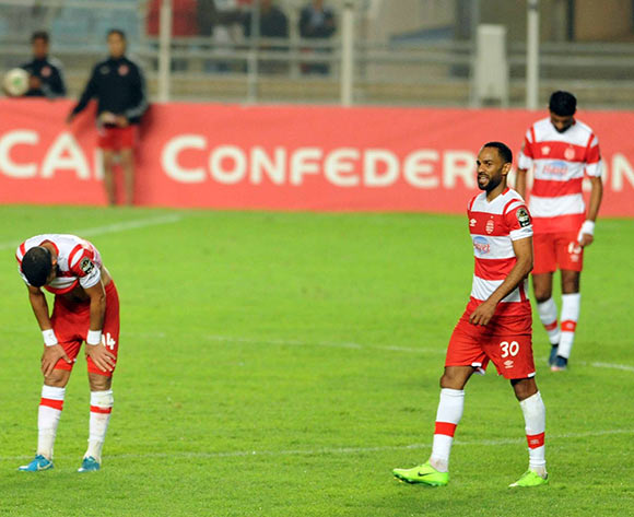 Club Africain players after  the semi-final return 2017 CAF Confederations Cup game between Club Africain and Supersport United FC in Tunis, Tunisia on 22 October 2017 © BackpagePix