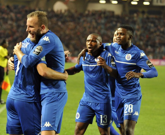 SuperSport players react to historic CAF Confed Cup win
