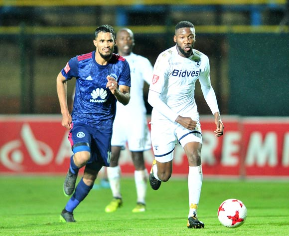Buhle Mkhwanazi of Bidvest Wits challenged by Tashreeq Morris of Ajax Cape Town during the Absa Premiership 2017/18 football match between Bidvest Wits and Ajax Cape Town at Bidvest Stadium, Johannesburg on 06 December 2017 ©Samuel Shivambu/BackpagePix