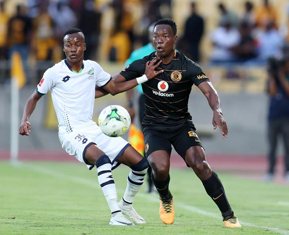 Philani Zulu of Kaizer Chiefs challenged by Katlego Otladisa of Platinum Stars during the Absa Premiership 2017/18 match between Platinum Stars and Kaizer Chiefs at Royal Bafokeng Stadium, Rustenburg South Africa on 09 December 2017 ©Muzi Ntombela/BackpagePix