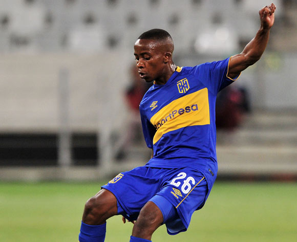 Thabo Nodada of Cape Town City during the Absa Premiership 2017/18 game between Cape Town City and AmaZulu at Cape Town Stadium on 15 December 2017 © Ryan Wilkisky/BackpagePix