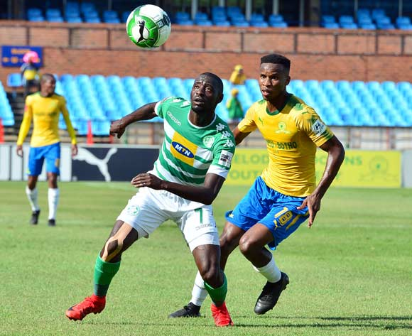 Deon Hotto of Bloemfontein Celtic challenged by Themba Zwane of Mamelodi Sundowns during the Absa Premiership 2017/18 football match between Mamelodi Sundowns and Bloemfontein Celtic at Loftus Stadium, Pretoria on 16 December 2017 ©Samuel Shivambu/BackpagePix