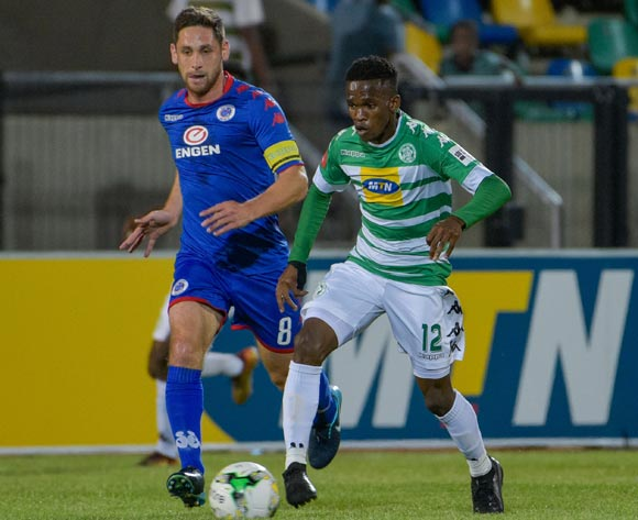 Kabelo Mahlasela and Dean Furman of SuperSport United © Frikkie Kapp/BackpagePix