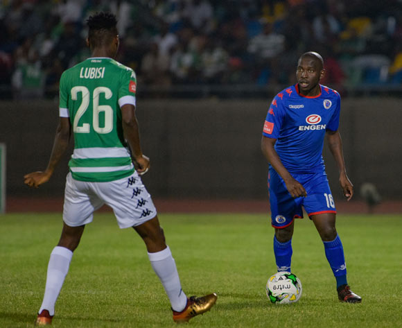 Aubrey Modiba of SuperSport United and Aphiwe Lubisi of Bloemfontein Celtic during the Absa Premiership 2017/18 game between Bloemfontein Celtic and SuperSport United at Dr Molemela Stadium in Bloemfontein on 20 December 2017 © Frikkie Kapp/BackpagePix