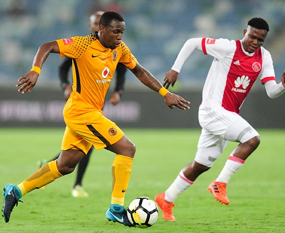 George Maluleka of Kaizer Chiefs FC and Ndiviwe Mdabuka of Ajax Cape Town during the Absa Premiership 2017/18 game between Kaizer Chiefs and Ajax Cape Town at Moses Mabhida Stadium, Durban on 16 December 2017 © Gerhard Duraan/BackpagePix