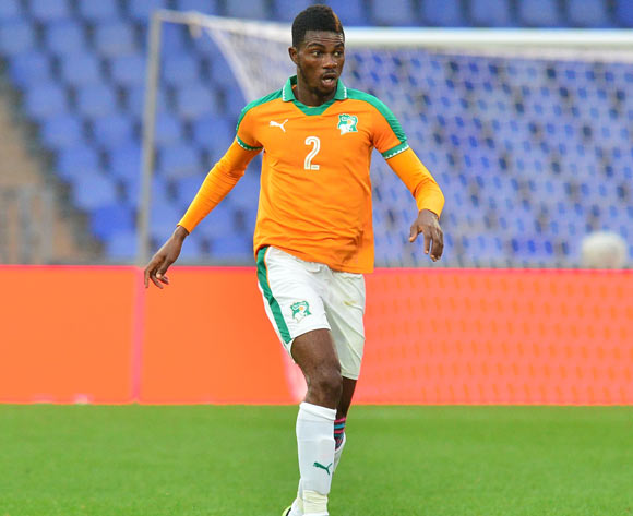 Dagou Willie Britto of Ivory Coast during the 2018 CHAN football game between Ivory Coast and Zambia at the Grand stade Marrakech in Marrakech, Morocco on 18 January 2017 ©Samuel Shivambu/BackpagePix