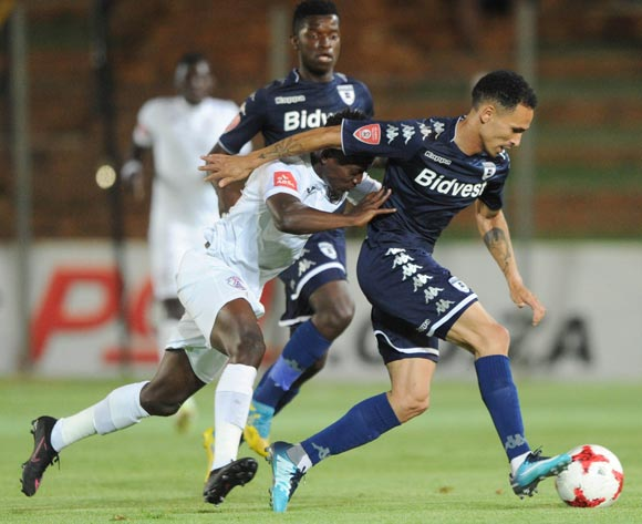 Daylon Claasen of Bidvest Wits is challenged by Thabo Maphakisa of Free State Stars during the Absa Premiership match between Bidvest Wits and Free State Stars on 05 January 2018 at Bidvest Stadium Pic Sydney Mahlangu/BackpagePix