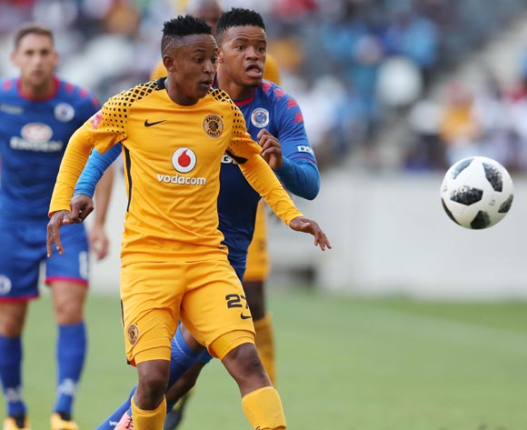 Hendrick Ekstein of Kaizer Chiefs challenged by Sipho Mbule of Supersport United during the Absa Premiership 2017/18 match between Supersport United and Kaizer Chiefs at Mbombela Stadium, Mpumalanga South Africa on 06 January 2018 ©Muzi Ntombela/BackpagePix