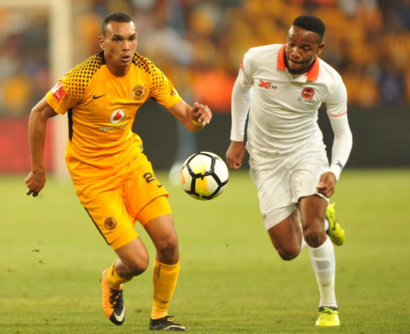 Ryan Moon of Kaizer Chiefs challenged by Thabiso Semenya of Polokwane City during Absa Premiership 2017/18 game between Kaizer Chuefs and Polokwane City at FNB Stadium in Johannesburg South Africa on 13 January 2018 ©Aubrey Kgakatsi/BackpagePix