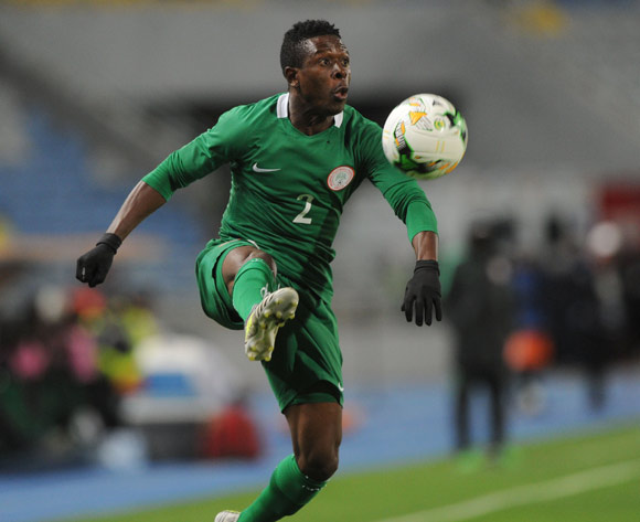 Moses Okoro Osas of Nigeria  during the CHAN Group C match between Nigeria and Rwanda on 15 January 2018 at Grand Stade de Tanger, Tanger Morocco Pic Sydney Mahlangu/BackpagePix