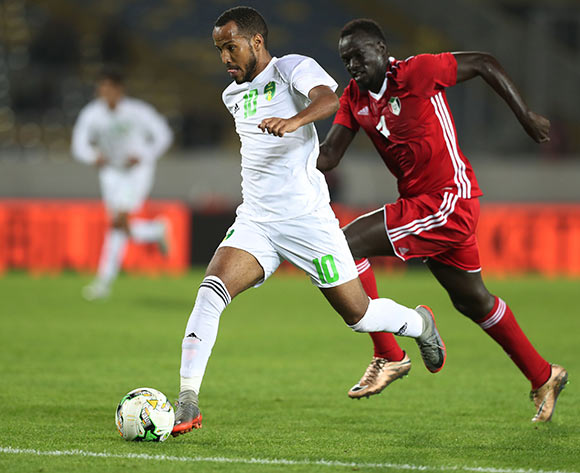 Babacar Bagili of Mauritania during the 2018 Chan football game between Sudan and Mauritania at Stade Mohammed V in Casablanca, Morocco on 17 January 2018 ©Gavin Barker/BackpagePix