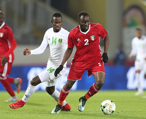 Abu Aagla Abdalla Mohamed of Sudan during the 2018 Chan football game between Sudan and Mauritania at Stade Mohammed V in Casablanca, Morocco on 17 January 2018 ©Gavin Barker/BackpagePix