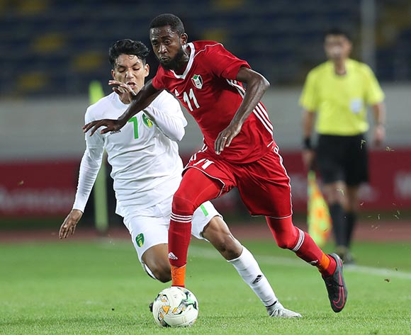 Maaz Abdelraheem Gismalla of Sudan during the 2018 Chan football game between Sudan and Mauritania at Stade Mohammed V in Casablanca, Morocco on 17 January 2018 ©Gavin Barker/BackpagePix