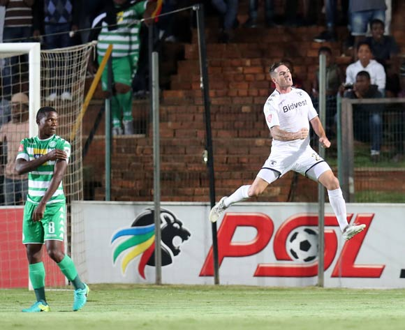 James Keene of Bidvest Wits scores a penalty and celebrates during the Absa Premiership 2017/18 match between Bidvest Wits and Bloemfontein Celtic at Bidvest Stadium, Johannesburg South Africa on 19 January 2018 ©Muzi Ntombela/BackpagePix