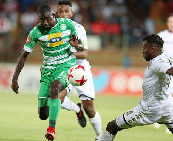 Deon Hotto of Bloemfontein Celtic tackled by Bongani Khumalo of Bidvest Wits  during the Absa Premiership 2017/18 match between Bidvest Wits and Bloemfontein Celtic at Bidvest Stadium, Johannesburg South Africa on 19 January 2018 ©Muzi Ntombela/BackpagePix