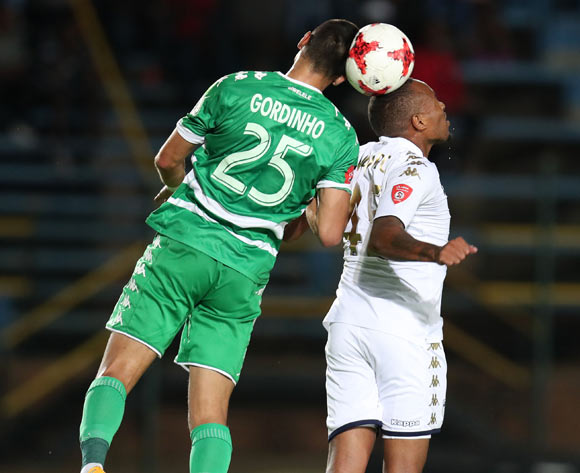 Lorenzo Gordinho of Bloemfontein Celtic challenged by Lehlohonolo Majoro of Bidvest Wits during the Absa Premiership 2017/18 match between Bidvest Wits and Bloemfontein Celtic at Bidvest Stadium, Johannesburg South Africa on 19 January 2018 ©Muzi Ntombela/BackpagePix