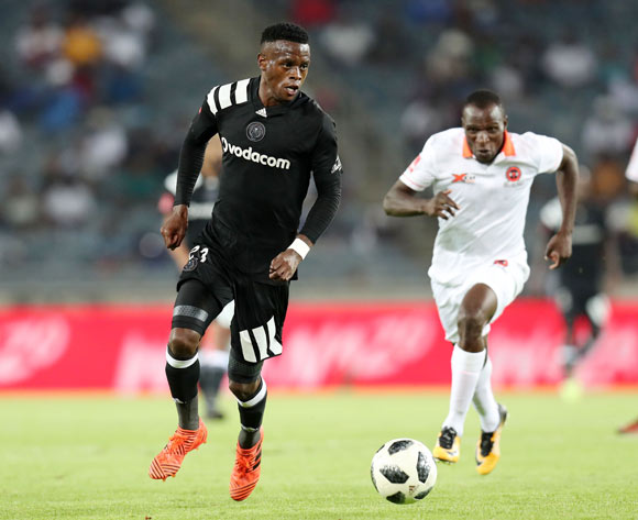 Innocent Maela of Orlando Pirates challenged by Rodney Ramagalela of Polokwane Cityduring the Absa Premiership 2017/18 match between Orlando Pirates and Polokwane City at Orlando Stadium, Soweto South Africa on 20 January 2018 ©Muzi Ntombela/BackpagePix