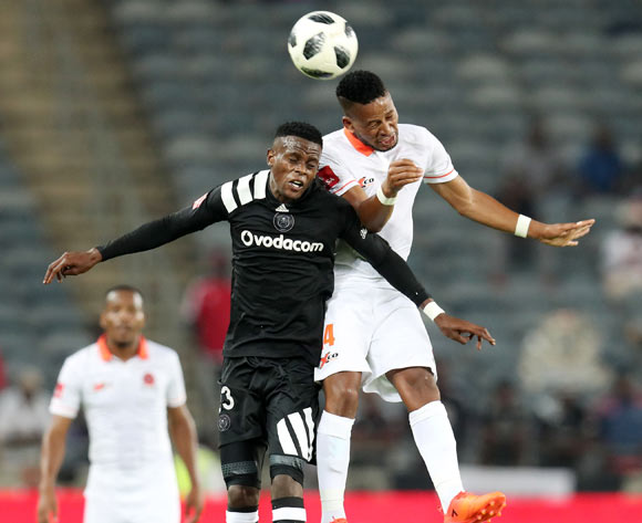 Innocent Maela of Orlando Pirates challenged by Edgar Manaka of Polokwane City during the Absa Premiership 2017/18 match between Orlando Pirates and Polokwane City at Orlando Stadium, Soweto South Africa on 20 January 2018 ©Muzi Ntombela/BackpagePix