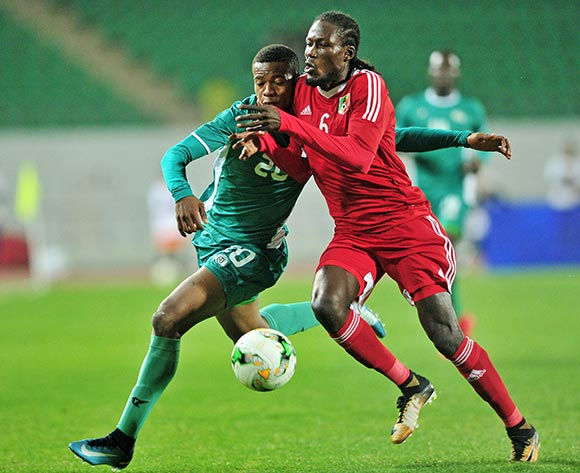 Dimitry Davy Bissiki of Congo is challenged by Nathanio Kompaore of Burkina Faso during the 2018 Chan game between Congo and Burkina Faso at Le Grand Stade Agadir in Agadir, Morocco on 20 January 2018 © Ryan Wilkisky/BackpagePix