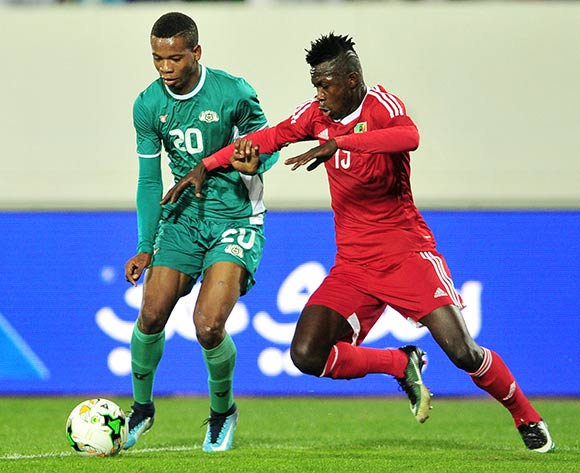 Nathanio Kompaore of Burkina Faso takes on Varel Joviale Rozan of Congo during the 2018 Chan game between Congo and Burkina Faso at Le Grand Stade Agadir in Agadir, Morocco on 20 January 2018 © Ryan Wilkisky/BackpagePix