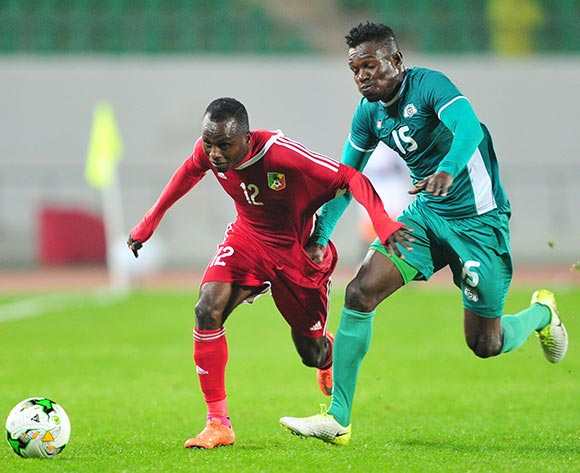 Junior Makiesse Mouzita of Congo takes on Severin Traore of Burkina Faso during the 2018 Chan game between Congo and Burkina Faso at Le Grand Stade Agadir in Agadir, Morocco on 20 January 2018 © Ryan Wilkisky/BackpagePix