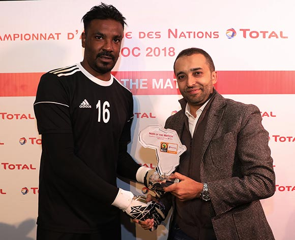 Akram Elhadi Salim of Sudan wins the Total Man of the Match Award during the 2018 Chan football game between Sudan and Morocco at Stade Mohammed V in Casablanca, Morocco on 21 January 2018 ©Gavin Barker/BackpagePix