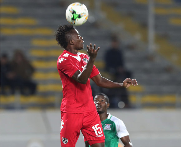 Benyamen Kangau Nenkavu of Namibia during the 2018 Chan football game between Namibia and Zambia at Stade Mohammed V in Casablanca, Morocco on 22 January 2018 ©Gavin Barker/BackpagePix