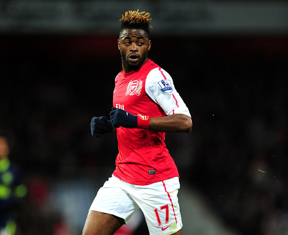Alex Song training with Arsenal