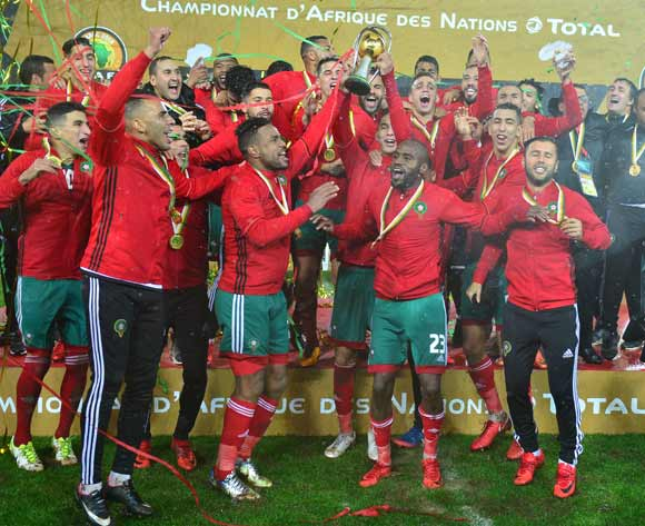 Morocco winners of the 2018 CHAN Final football match between Morocco and Nigeria at Stade Mohamed V in Casablanca, Morocco on 04 February 2018 ©Samuel Shivambu/BackpagePix