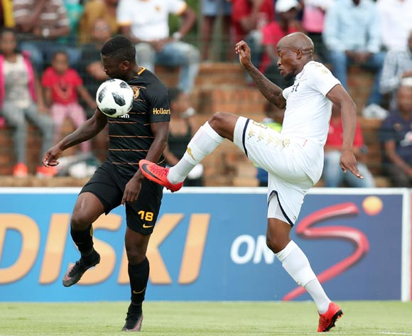 Kgotso Moleko of Kaizer Chiefs challenged by Sifiso Hlanti of Bidvest Wits  during the Absa Premiership 2017/18 match between Bidvest Wits and Kaizer Chiefs at Bidvest Stadium, Johannesburg South Africa on 03 February 2018 ©Muzi Ntombela/BackpagePix
