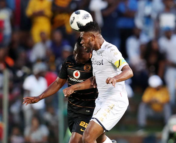 Thulani Hlatshwayo of Bidvest Wits challenged by Philani Zulu of Kaizer Chiefs during the Absa Premiership 2017/18 match between Bidvest Wits and Kaizer Chiefs at Bidvest Stadium, Johannesburg South Africa on 03 February 2018 ©Muzi Ntombela/BackpagePix