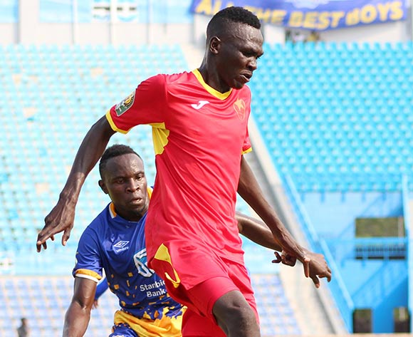 Ivan Ntege of Township Rollersduring the 2018 CAF Champions League football match between Township Rollers and EL Merreikh at National Stadium,Botswana on 10 February 2018 ©/BackpagePix