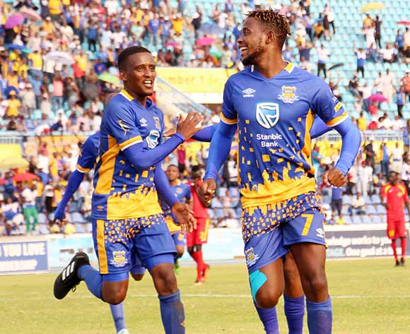 Township Rollers celebrating their goal during the 2018 CAF Champions League football match between Township Rollers and EL Merreikh at National Stadium,Botswana on 10 February 2018 ©/BackpagePix