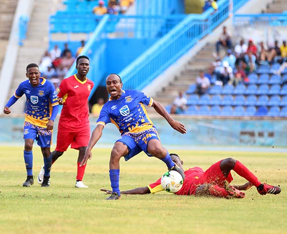 Edwin Overlie of Township Rollers during the 2018 CAF Champions League football match between Township Rollers and EL Merreikh at National Stadium,Botswana on 10 February 2018 ©/BackpagePix