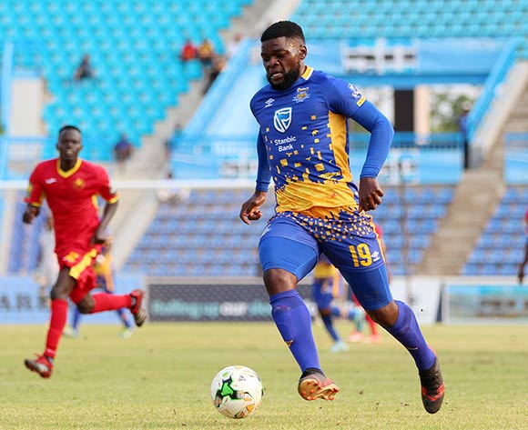 Mthokozisi Msomi of Township Rollers during the 2018 CAF Champions League football match between Township Rollers and EL Merreikh at National Stadium,Botswana on 10 February 2018 ©/BackpagePix