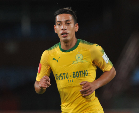 Leandro Sirino of Mamelodi Sundowns  during the Absa Premiership match between Mamelodi Sundowns and Free State Stars on 21 February 2018 at  Loftus Versfeld Stadium Pic Sydney Mahlangu/BackpagePix