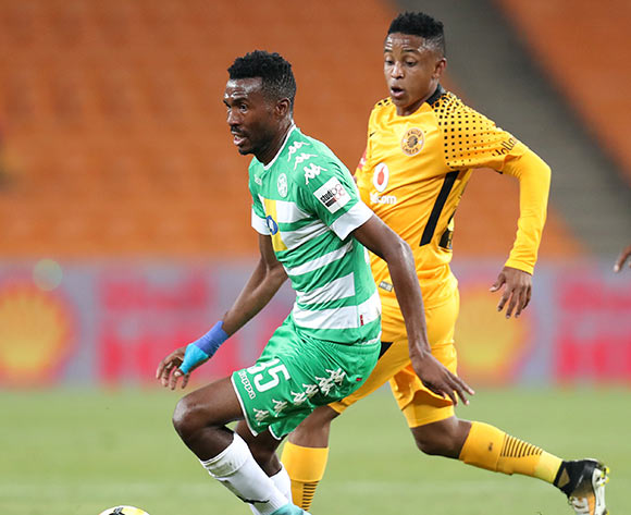 Lucky Baloyi of Bloemfontein Celtic challenged by Hendrick Ekstein of Kaizer Chiefs during the Absa Premiership 2017/18 match between Kaizer Chiefs and Bloemfontein Celtic at FNB Stadium, Johannesburg South Africa on 24 February 2018 ©Muzi Ntombela/BackpagePix