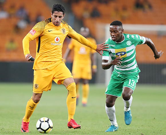 Leonardo Castro of Kaizer Chiefs challenged by Victor Letsoalo of Bloemfontein Celtic during the Absa Premiership 2017/18 match between Kaizer Chiefs and Bloemfontein Celtic at FNB Stadium, Johannesburg South Africa on 24 February 2018 ©Muzi Ntombela/BackpagePix