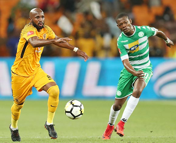 Ramahlwe Mphahlele of Kaizer Chiefs challenged by Ndumiso Mabena of Bloemfontein Celtic during the Absa Premiership 2017/18 match between Kaizer Chiefs and Bloemfontein Celtic at FNB Stadium, Johannesburg South Africa on 24 February 2018 ©Muzi Ntombela/BackpagePix