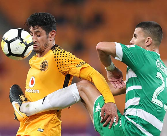 Leonardo Castro of Kaizer Chiefs challenged by Lorenzo Gordinho of Bloemfontein Celtic during the Absa Premiership 2017/18 match between Kaizer Chiefs and Bloemfontein Celtic at FNB Stadium, Johannesburg South Africa on 24 February 2018 ©Muzi Ntombela/BackpagePix