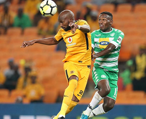 Ramahlwe Mphahlele of Kaizer Chiefs clears ball from Victor Letsoalo of Bloemfontein Celtic during the Absa Premiership 2017/18 match between Kaizer Chiefs and Bloemfontein Celtic at FNB Stadium, Johannesburg South Africa on 24 February 2018 ©Muzi Ntombela/BackpagePix