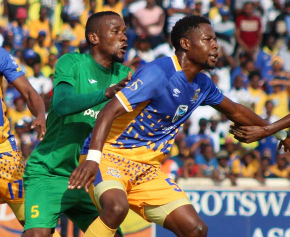 Simisani Flight Mathumo of Township Rollers F.C and Kevin .Patrick Yondani of Young Africans during the CAF Champions League match Township Rollers and Young Africans on 17 March 2018 at National Stadium, Gaborone,Botswana BackpagePix
