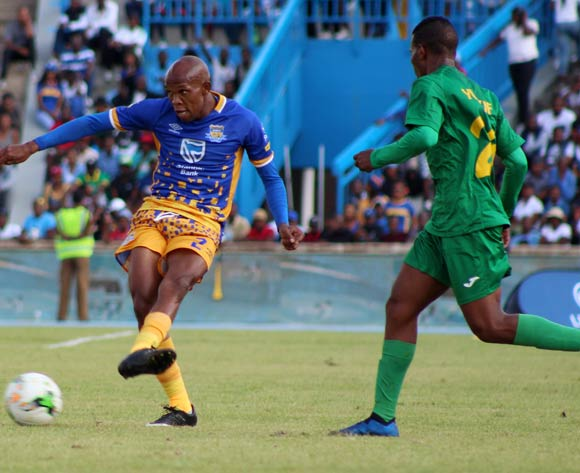 Lemponye Tshireletso of Township Rollers F.C and Said Juma Ali of Young African during the CAF Champions League match Township Rollers and Young Africans on 17 March 2018 at Bidvest Stadium BackpagePix