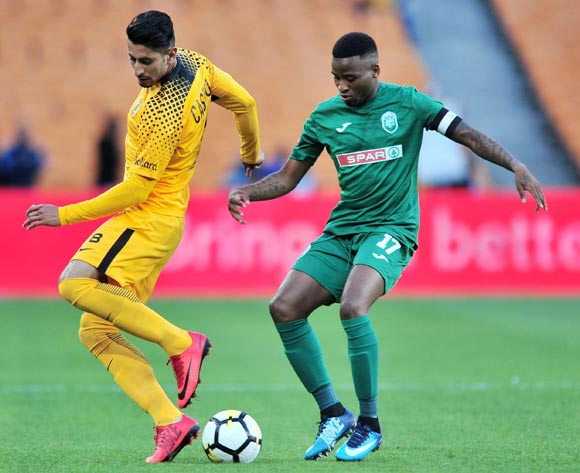 Leonardo Castro of Kaizer Chiefs challenged by Mbongeni Gumede of AmaZulu during the Absa Premiership 2017/18 match between Kaizer Chiefs and AmaZulu at FNB Stadium, Johannesburg on 17 March 2018 ©Samuel Shivambu/BackpagePix